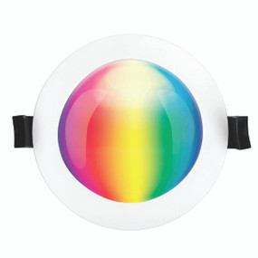 Smart RGB Downlight - Dimmable 10W 800lm IP44 Tri Colour 110mm White