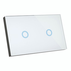 Smart Switch - 2 Gang Designer Glass Touch On Off