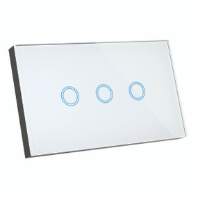 Smart Switch - 3 Gang Designer Glass Touch On Off