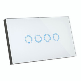 Smart Switch - 4 Gang Designer Glass Touch On Off