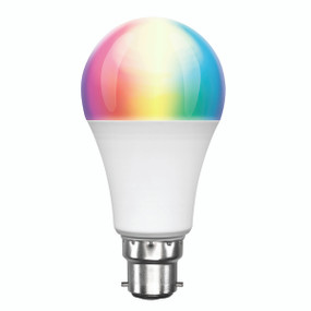 Smart Light Bulb B22 RGB LED - Dimmable 9W 800lm 3000K Multi Colour