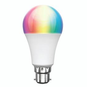 Smart Light Bulb B22 RGB LED - Dimmable 9W 800lm 3000K Multi Colour