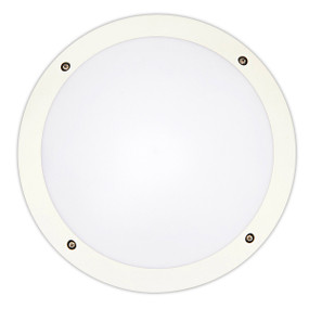 Vandal Proof Light - Wall or Ceiling IK10 12W 800lm 4200K IP66 Round White