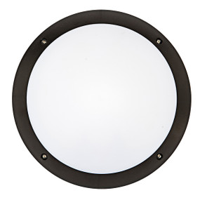Vandal Proof Light - Wall or Ceiling IK10 12W 800lm 4200K IP66 Round Black