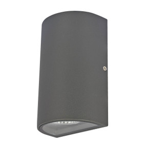 Up Down Light - 9W 500lm IP54 3000K 160mm Charcoal
