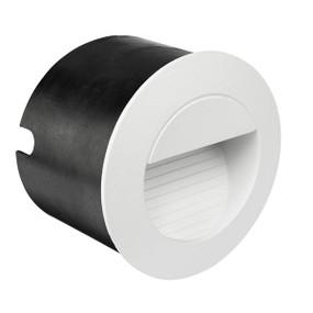 Step Light - 1.2W 40lm IP44 4200K 80mm Round White