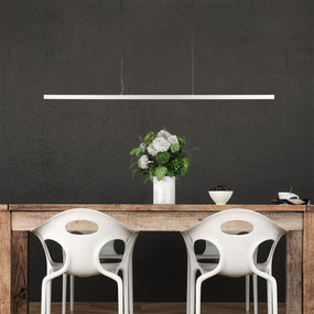 Pendant Light - Suspended T-Bar LED Dimmable 30W 1500lm 4000K 1.5m White