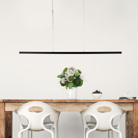 Hoko Pendant Light - Suspended TBar LED Dimmable 30W 1500lm 4000K 1.5m Black