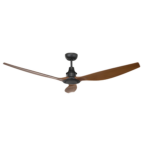 Elegant Black and Mahogany DC Ceiling Fan 147cm - Remote