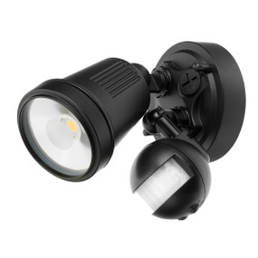 Motion Sensor Spotlight - 11W 750lm IP44 4200K 95mm Black
