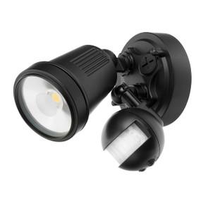 Motion Sensor Spotlight - 11W 750lm IP44 4200K 95mm Black