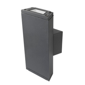 Up Down Light - 7W 400lm IP54 3000K 200mm Charcoal