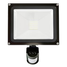 Flood Light With Sensor - 30W 3000lm IP65 4200K 275mm Black