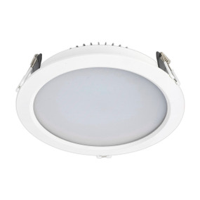 LED Downlight - Dimmable 18W 1500lm IP44 Tri Colour 180mm White Shop Light