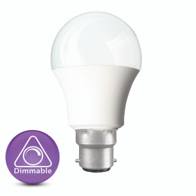 Dimmable LED Globe - B22 9W 860lm 4200K 110mm White