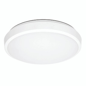 Oyster Light - 18W 1700lm IP20 Tri Colour 50mm White