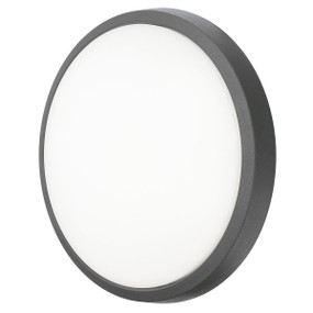 Outdoor Wall Light - Round 10W 650lm IP44 3000K 220mm Charcoal