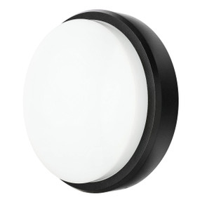 Outdoor Wall Light - Round 10W 750lm IP54 3000K 214mm Charcoal