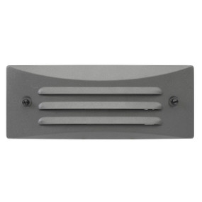 Step Light - 12V 20lm IP44 90mm 1W Rectangular Charcoal
