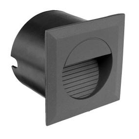Step Light - 1.2W 20lm IP44 4200K 80mm Square Charcoal