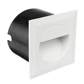 Step Light - 1.2W 40lm IP44 4200K 80mm Square White