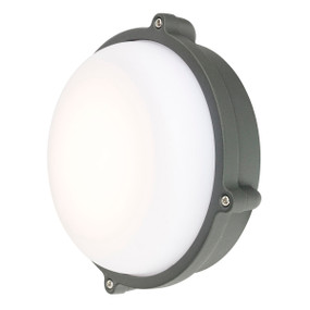 Outdoor Wall Light - 12W 600lm IP44 3000K 167mm Charcoal