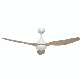Elegant White Ash DC 3 Blade Ceiling Fan 132cm - Remote and Light