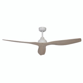Stunning White Ash DC 3 Blade Ceiling Fan 132cm With Remote