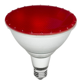 LED Coloured Globe - E27 15W 150lm IP65 134mm Red