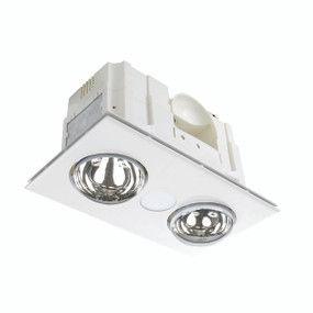 3-in-1 Bathroom Heater Fan Light - 419mm White