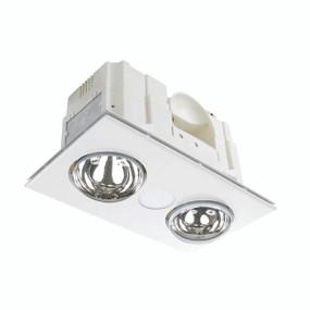 3-in-1 Bathroom Heater Fan Light - 419mm White