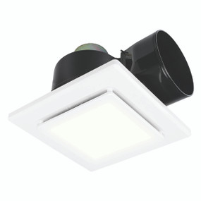 Exhaust Fan With Light - Square 13W 325mm White