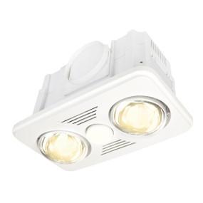 3-in-1 Bathroom Heater Fan Light - 405mm White