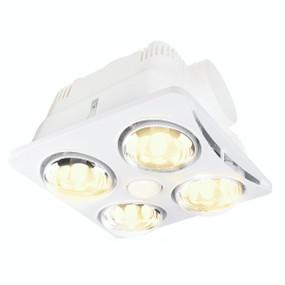 3-in-1 Bathroom Heater Fan Light - 362mm White