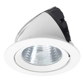 Gimble Downlight - Dimmable 30W 2400lm IP20 195mm White Shop Light
