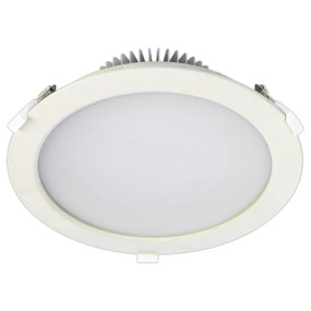 LED Downlight - 24W 2000lm IP44 Tri Colour 230mm White