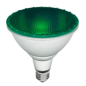 E27 PAR 38 Reflector Globe - 15W 250lm IP65 134mm Green