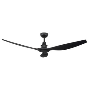 Elegant Black DC 3 Blade Ceiling Fan 58in 147cm - With Remote Control