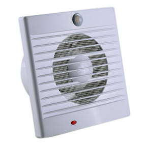 Wall or Window Exhaust Fan With Sensor - 18W IPX2 200mm White