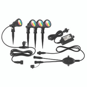 Smart RGB Garden Spike Light Kit - 4 x 12V Corrosion Resistant 3W IP68 Dimmable DIY