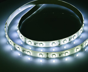 LED Strip Light Kit - 12V 400lm IP65 4200K 6W Includes Remote and Plug - 2.4m