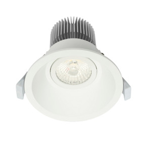 Gimble Downlight - Dimmable 10W 880lm IP44 Tri Colour 100mm White