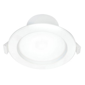 LED Downlight - Dimmable 8W 900lm IP44 Tri Colour 115mm White