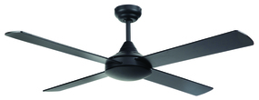 Ceiling Fan - 48 Inch 65W Motor Black