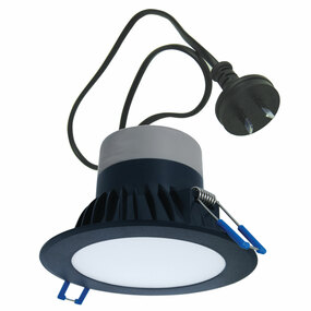 LED Downlight - Dimmable 10W 950lm IP44 5000K 120mm Black