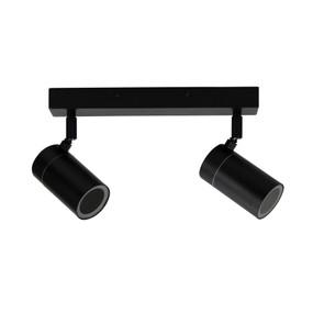 Ceiling Spotlight - 2 Adjustable 35W IP44 GU10 300mm Black