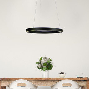 Pendant Light - 18W 900lm 4000K 400mm Black