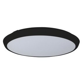 Oyster Light - 30W 3000lm IP54 Tri Colour 410mm Black