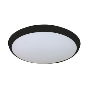Oyster Light - 25W 2200lm IP54 Tri Colour 300mm Black
