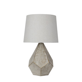Table Lamp - 60W IP20 E27 560mm White and Gold
